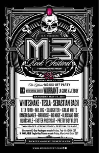 Whitesnake, Warrant And Tesla Heading To M3 Rock Festival