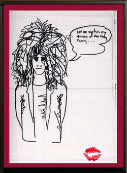 Paul Stanley Caricature Of Eric Carr Being Sold For A Grand