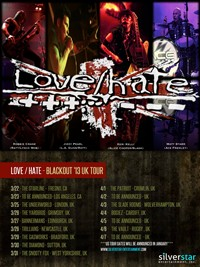 Jizzy Pearl Revamps Love/Hate For 'Blackout '13' UK Tour