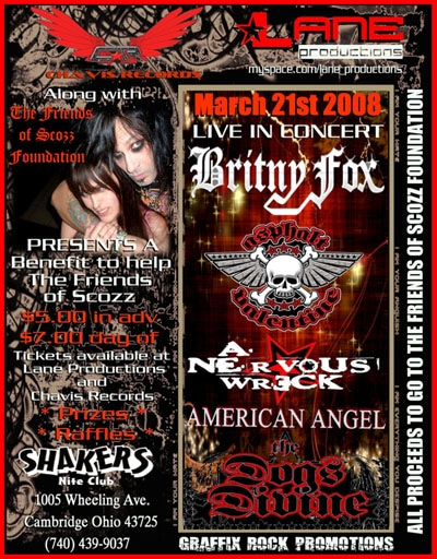 Britny Fox Charity Benefit