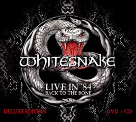 Whitesnake 'Live In '84 - Back To The Bone' CD/DVD Coming In November