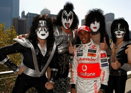Kiss with Lewis Hamilton