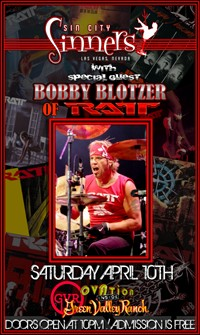 Sin City Sinners To Be Joined Live By Ratt's Bobby Blotzer In April
