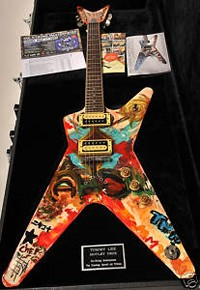 Tommy Lee Hand Painted Dimebag Darrell Tribute Guitar Being Auctioned