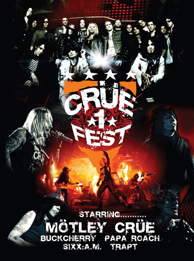 Motley Crue's Crue Fest DVD Reaches #1 On Billboard