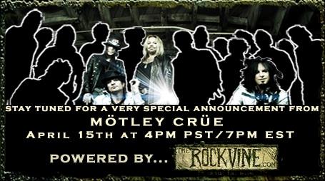 Motley Crue's Big Announcement