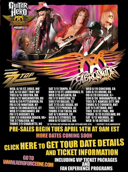 Aerosmith, ZZ Top Announce Tour Dates