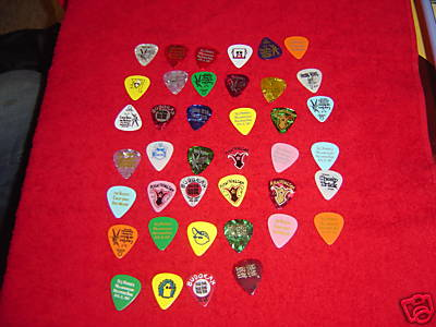 Cheap Trick Drummer Selling Guitar Pick Collection