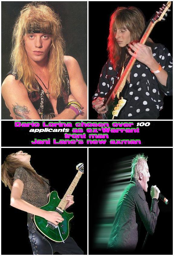 Jani Lane and Dario Lorina