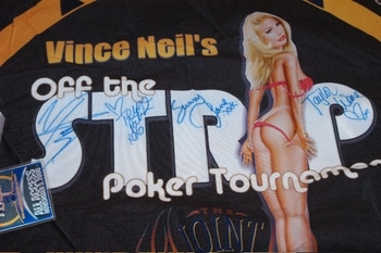 Vince Neil Autographed Poker Felt Being Auctioned