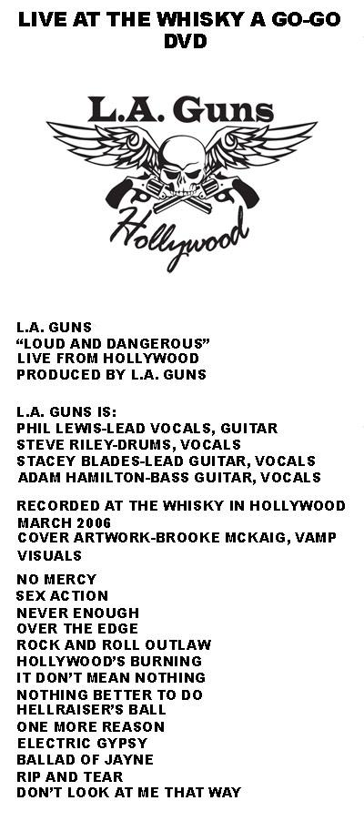 L.A. Guns Live From Hollywood