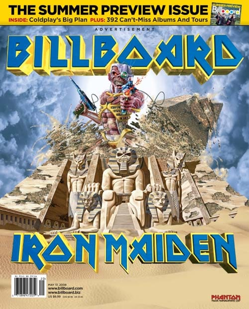 Iron Maiden On Billboard Magazine