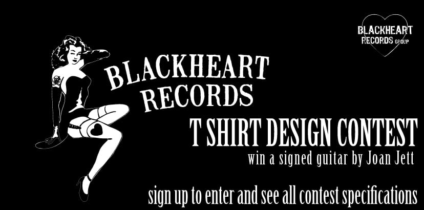 Win A Signed Joan Jett Guitar By Designing A Blackheart Records T-Shirt