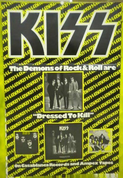 Rare Kiss 'Dressed To Kill' Promo Poster For Sale Online