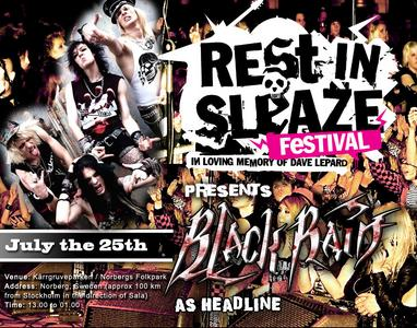 Blackrain Will Headline Rest In Sleaze Festival