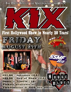 Kix Return To The Sunset Strip On August 27th