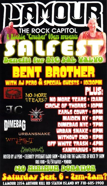 Twisted Sister's Alter Ego, Bent Brother, To Play Benefit Show