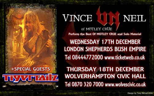 Tigertailz To Support Vince Neil On UK Dates