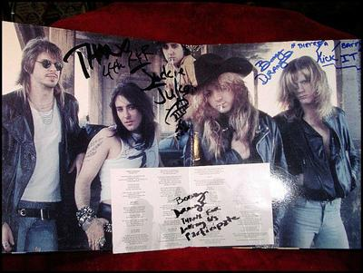 Rock City Angels Auction Autographed LP For Chairty