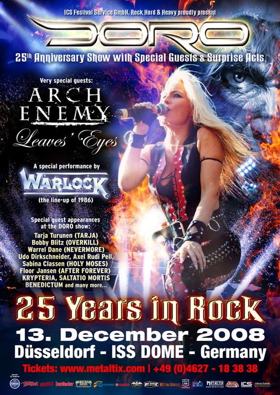 Doro To Celebrate 25 Years In Rock
