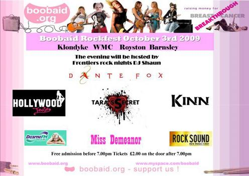 Boobaid Rockfest To Feature Dante Fox, Hollywood Tease And Tara's Secret
