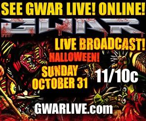 Watch GWAR's Epic Halloween Night Performance Live Online