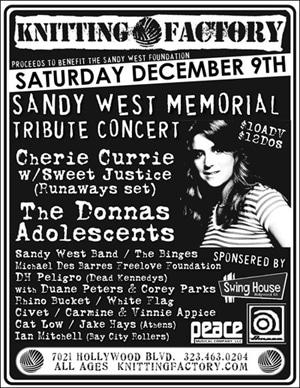 Sandy West Memorial Tribute Concert