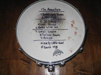 Burn Halo Auctioning Signed Guitar And Drum Snare