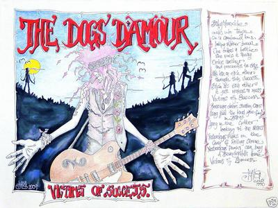 Tyla Of The Dogs D'amour Selling Victims Of Success Artwork
