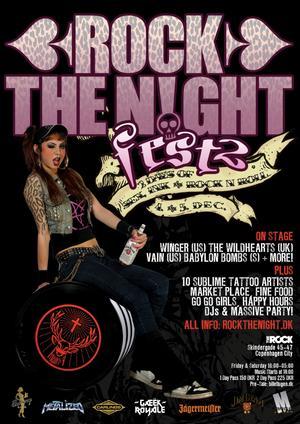 Winger, Vain And Steevi Jaimz Co-Headline Rock The Night Festival