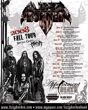 Lizzy Borden Announces More European Tour Dates
