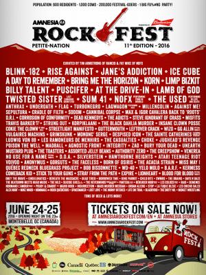 Amnesia Rockfest poster