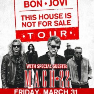 Mach22 to open for Bon Jovi in Philadephia, Pennsylvania, USA on March 31st