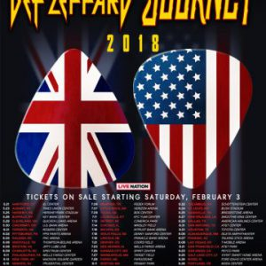Video footage and setlist for Def Leppard's first show of Def Leppard / Journey 2018 Tour