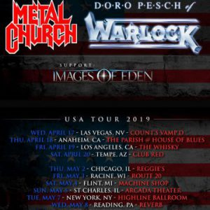 Doro and Metal Church to do co-headline tour of North America from April 17th to May 11th
