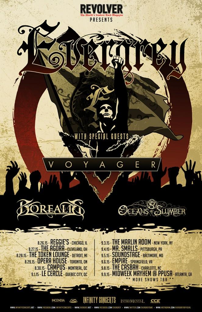 Evergrey Voyager Borealis Tour Poster