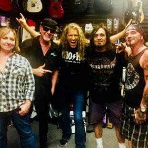 Video footage of singer Mitch Malloy's first gig fronting Great White