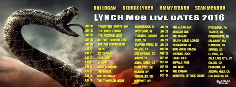 Lynch Mob tour dates poster