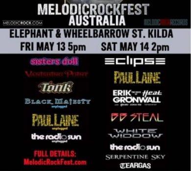 Melodicrockfest Australia poster