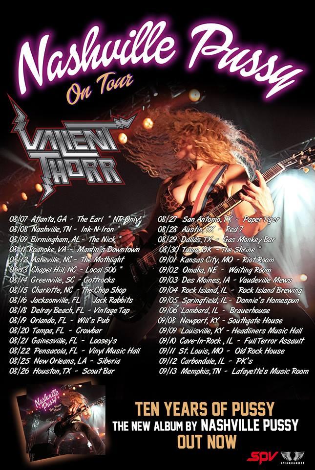 Nashville Pussy tour poster