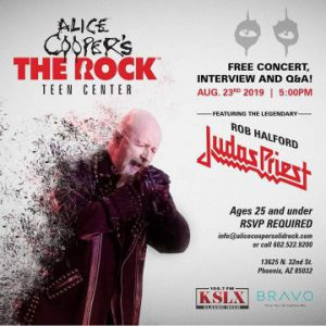 Rob Halford live at Alice Cooper's The Rock Teen Center in Phoenix, Arizona, USA Concert Review