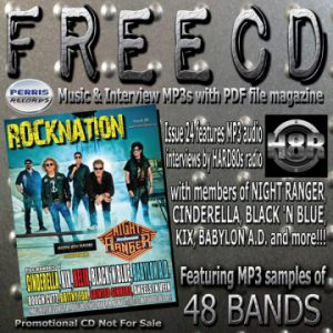 Perris Records has free CD of music samples and its 'Rocknation Issue 24' available to read online