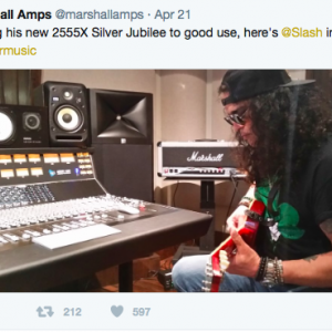 Are Guns N' Roses working on a new album with Slash in a studio?