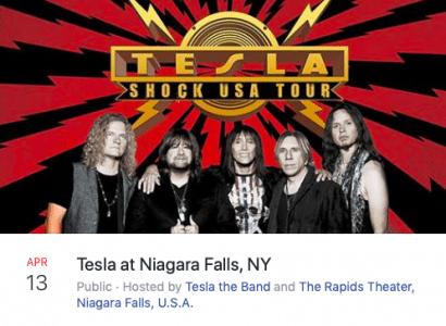 Tesla live at The Rapids Theater in Niagara Falls, New York