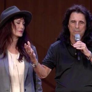 Alice Cooper makes surprise speech at church in Chagrin Falls, Ohio, USA