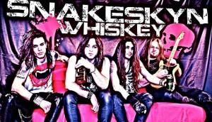 Snakeskyn Whiskey cartoon band photo