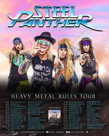 Steel Panther announce North American fall 2019 'Heavy Metal