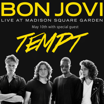Tempt To Open For Bon Jovi At Madison Square Garden On May
