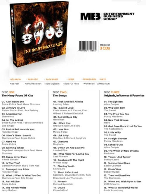New 'The Many Faces of KISS' album includes Vinnie Vincent