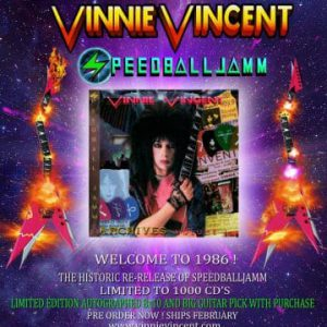 Vinnie Vincent's album 'Speedballjamm' to be re-released in February 2020